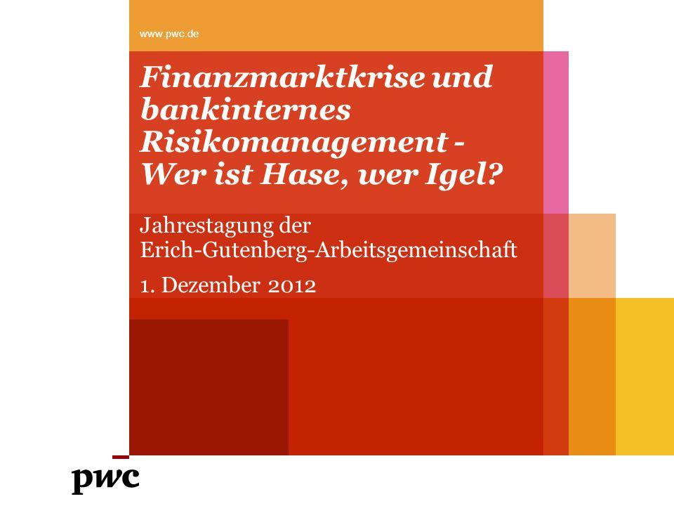 Jahrestagung der Erich-Gutenberg-Arbeitsgemeinschaft 1. Dezember 2012
