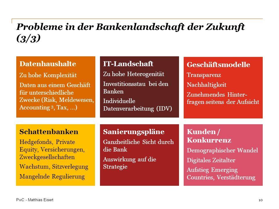 Probleme in der Bankenlandschaft der Zukunft (3/3)