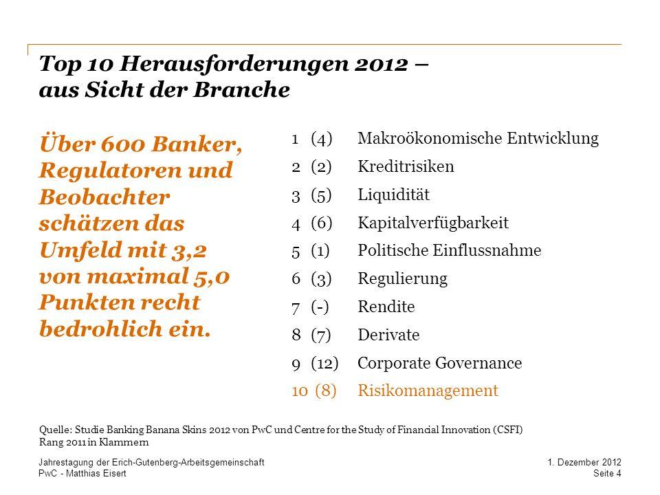 Top 10 Herausforderungen 2012 – aus Sicht der Branche