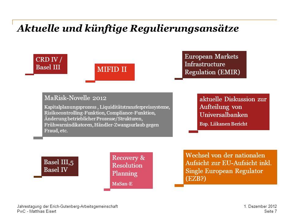 Aktuelle und künftige Regulierungsansätze