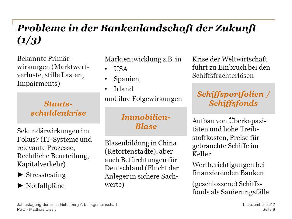 Probleme in der Bankenlandschaft der Zukunft (1/3)