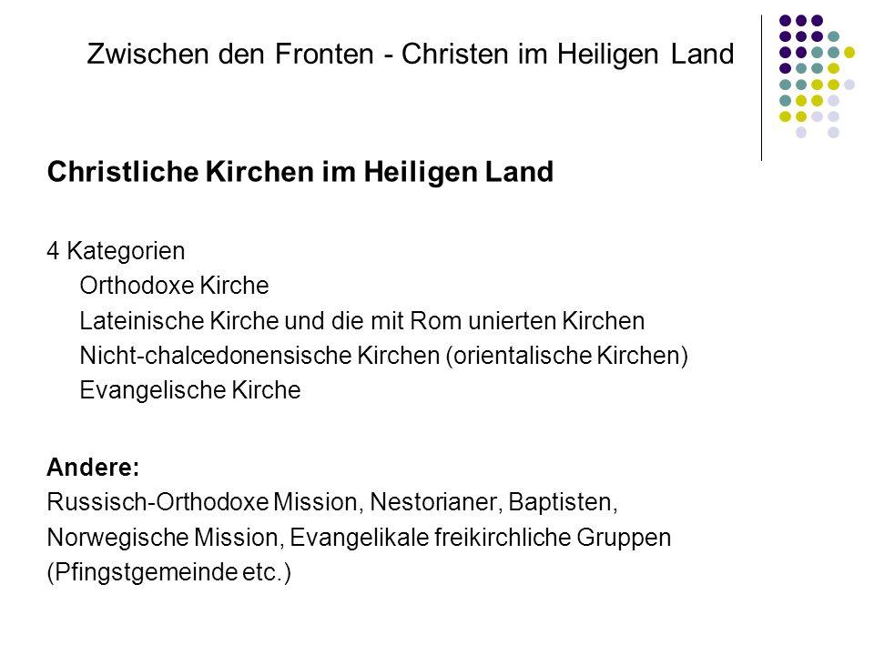 Zwischen den Fronten - Christen im Heiligen Land