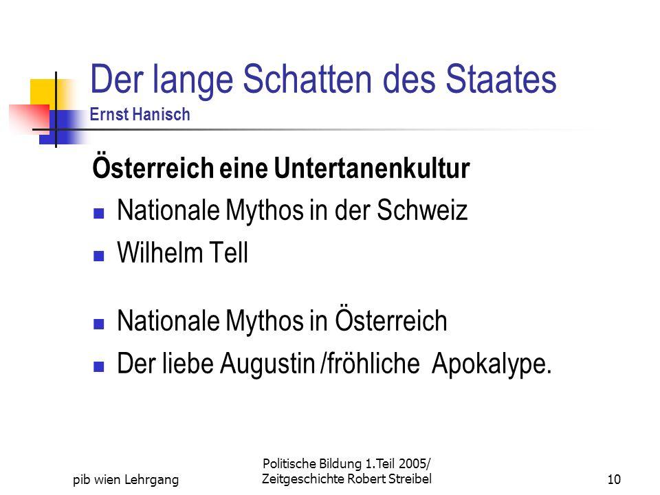 Der lange Schatten des Staates Ernst Hanisch