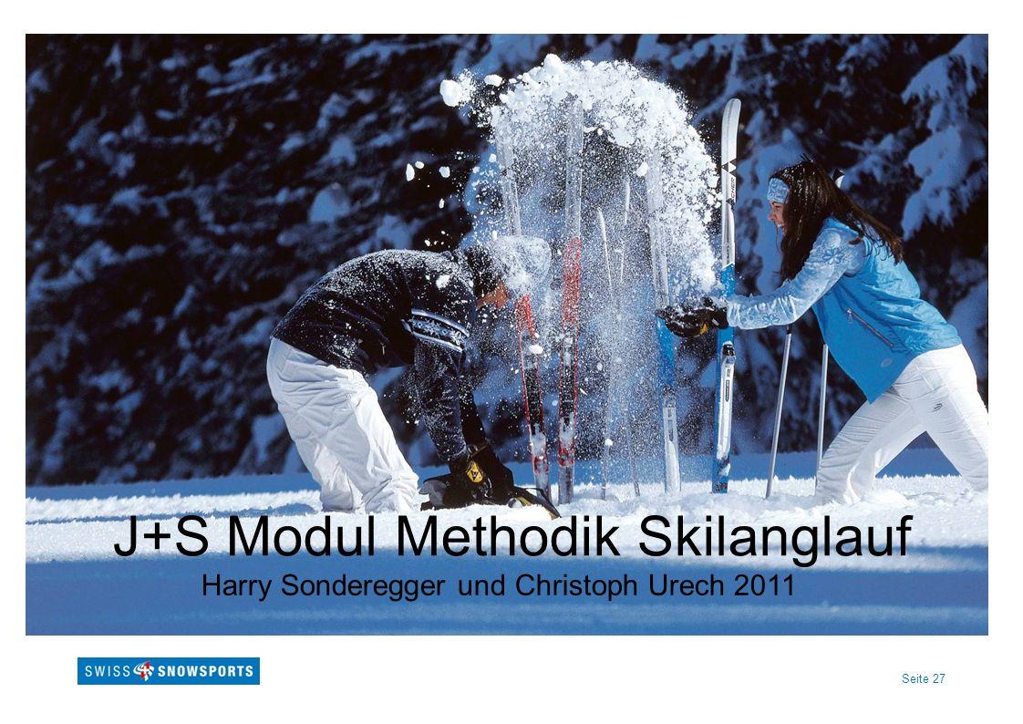 J+S Modul Methodik Skilanglauf