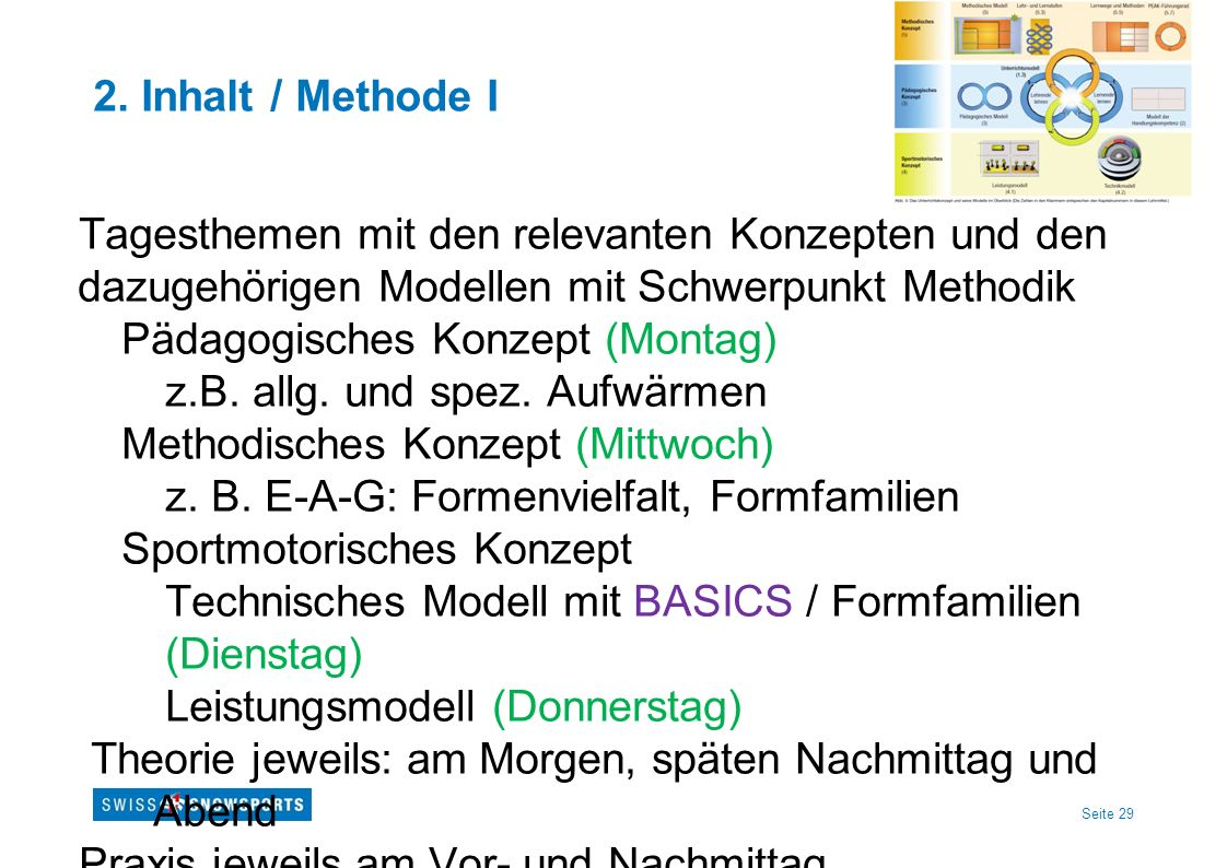 2. Inhalt / Methode I