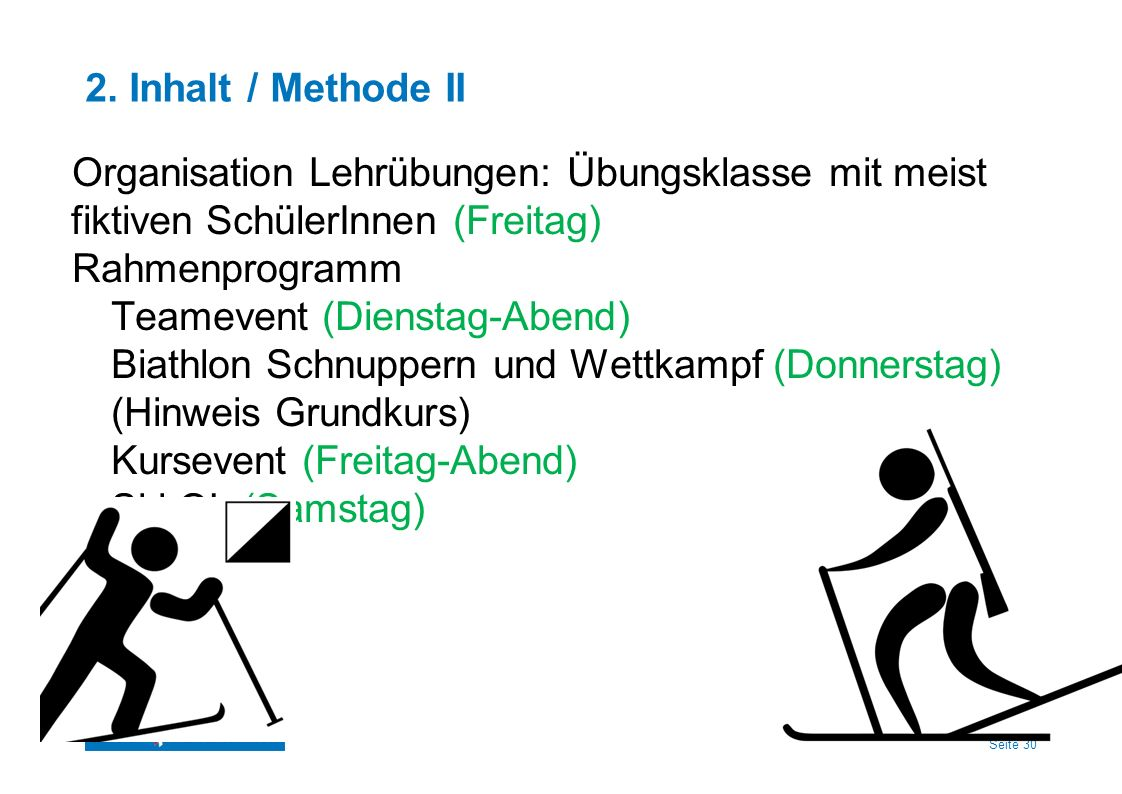 2. Inhalt / Methode II