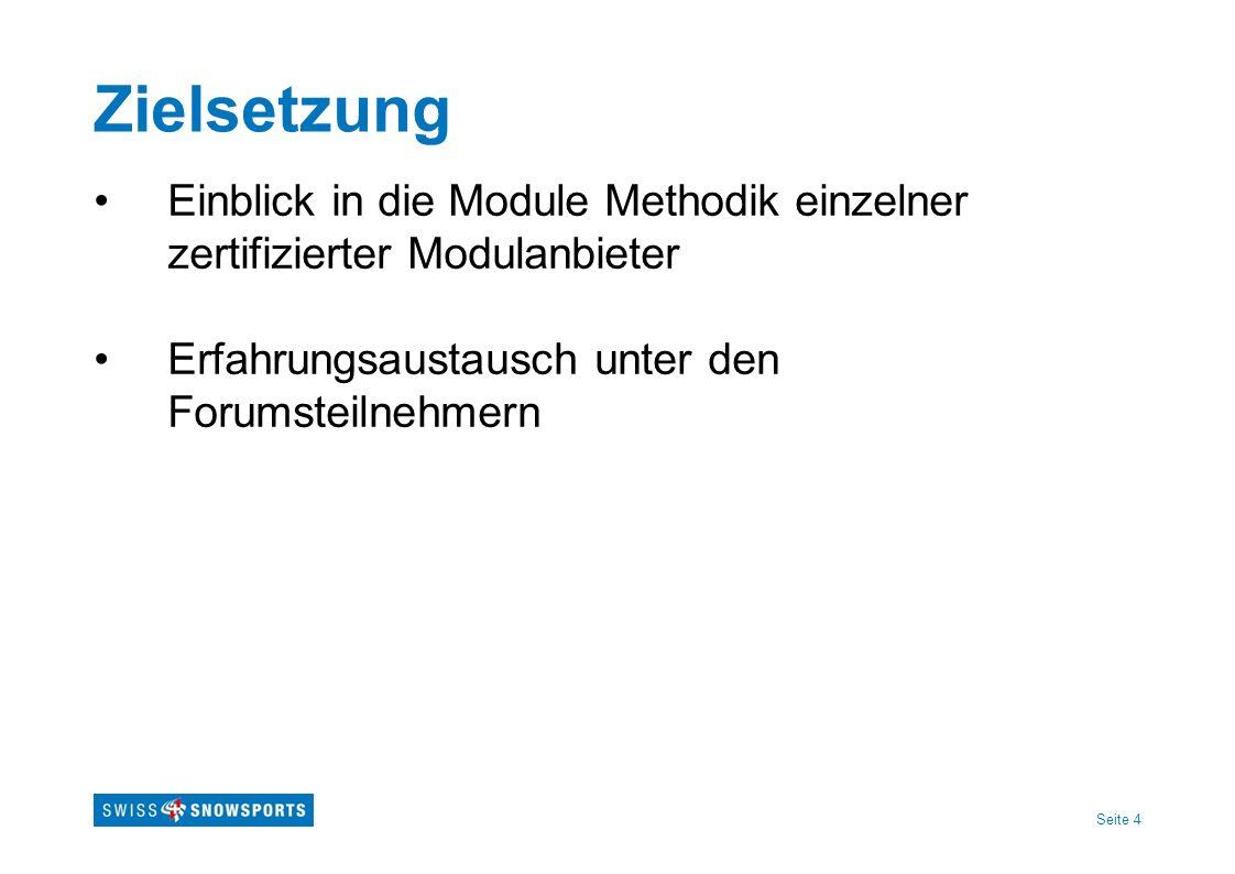 Zielsetzung Einblick in die Module Methodik einzelner zertifizierter Modulanbieter.