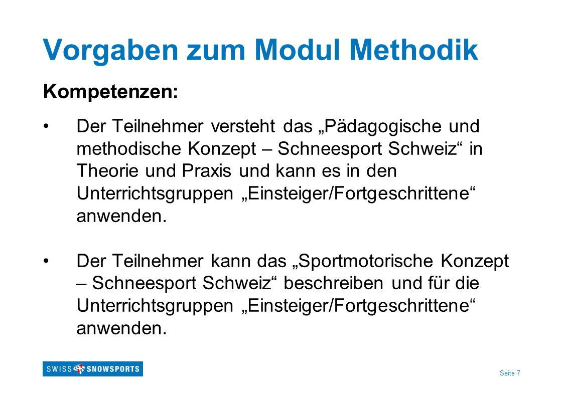 Vorgaben zum Modul Methodik