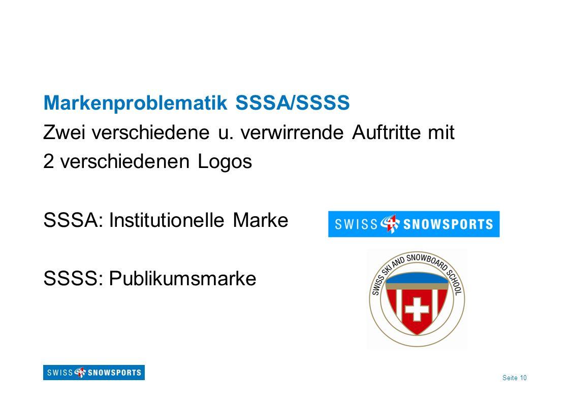 Markenproblematik SSSA/SSSS Zwei verschiedene u