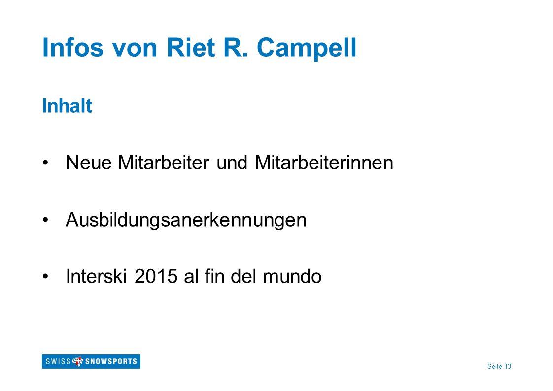 Infos von Riet R. Campell