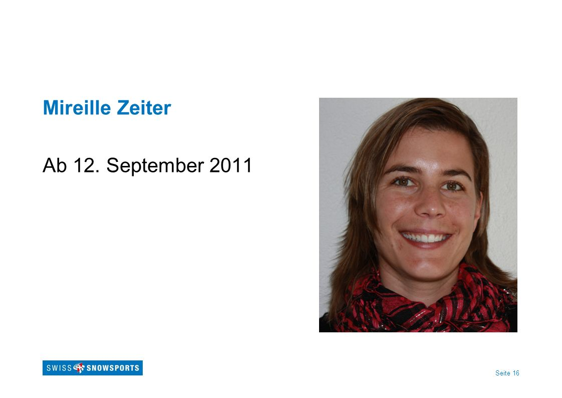 Mireille Zeiter Ab 12. September 2011
