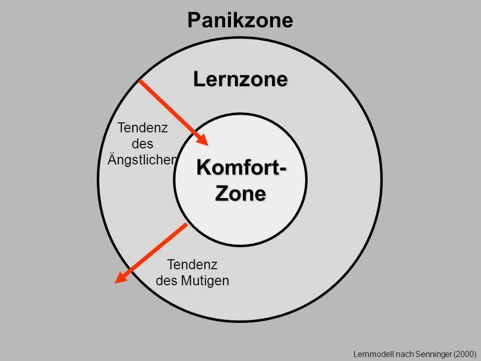 Panikzone Lernzone Komfort-Zone