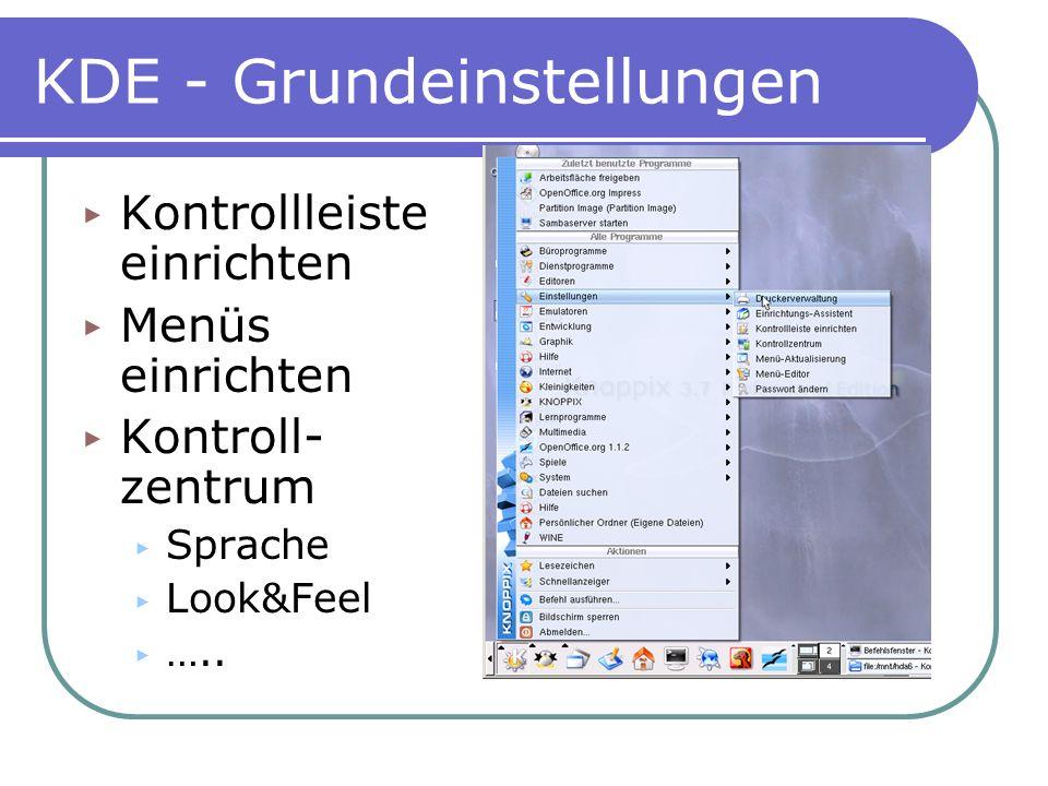 KDE - Grundeinstellungen