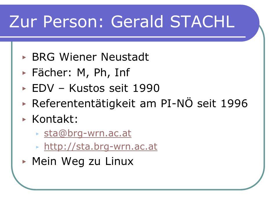 Zur Person: Gerald STACHL