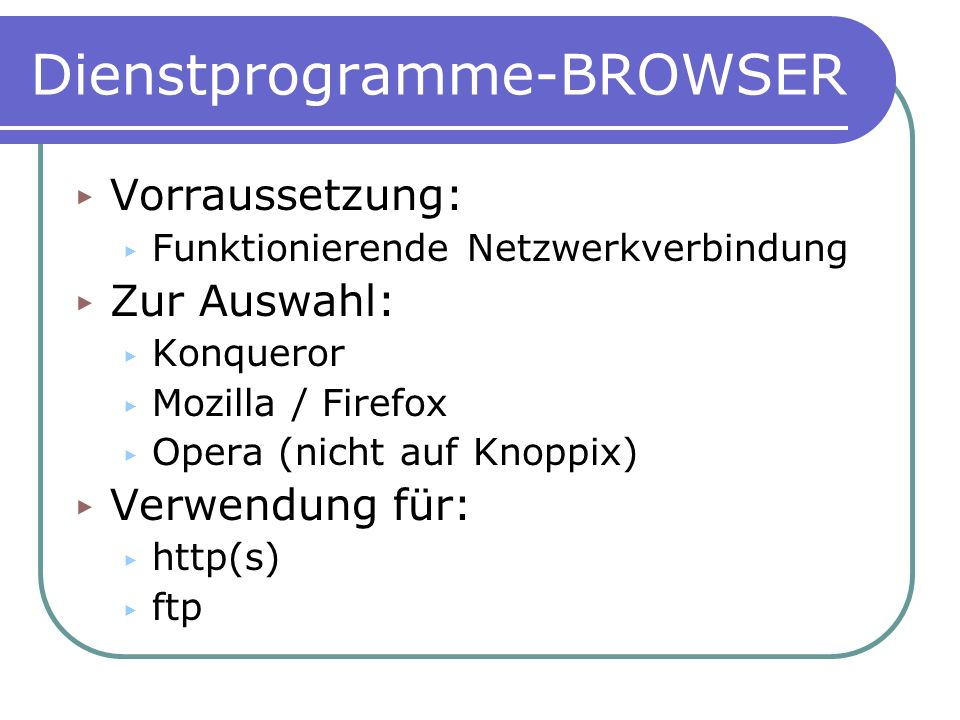 Dienstprogramme-BROWSER