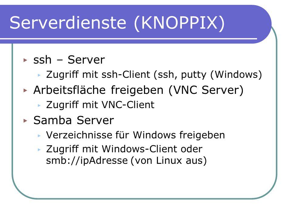 Serverdienste (KNOPPIX)