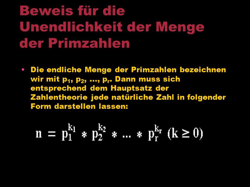 Beweis für die Unendlichkeit der Menge der Primzahlen
