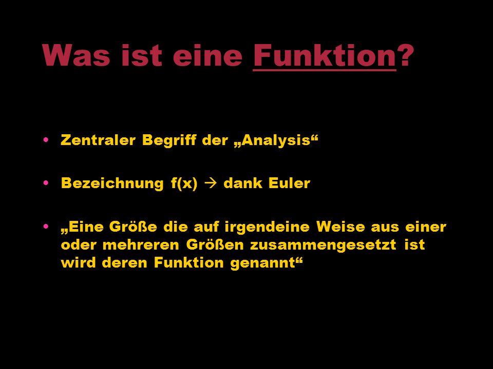 """Was ist eine Funktion Zentraler Begriff der """"Analysis"""