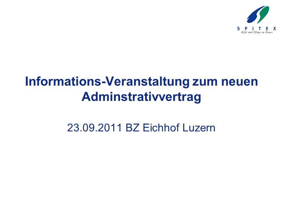 Informations-Veranstaltung zum neuen Adminstrativvertrag