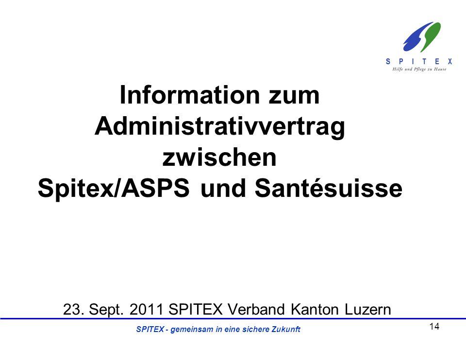 23. Sept. 2011 SPITEX Verband Kanton Luzern