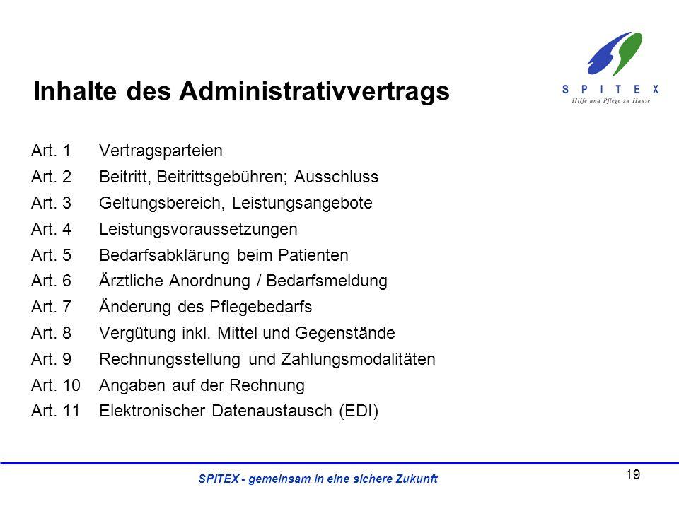 Inhalte des Administrativvertrags