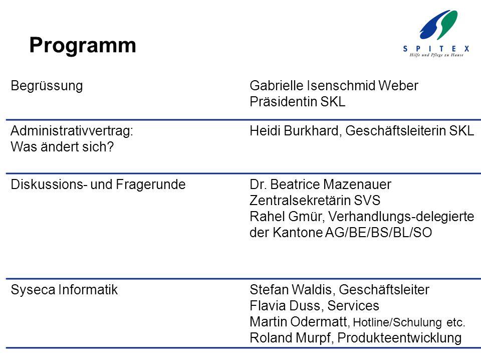 Programm Begrüssung Gabrielle Isenschmid Weber Präsidentin SKL