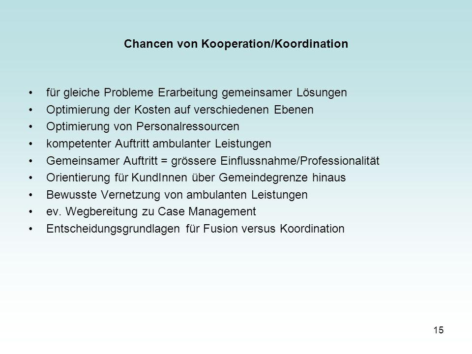 Chancen von Kooperation/Koordination