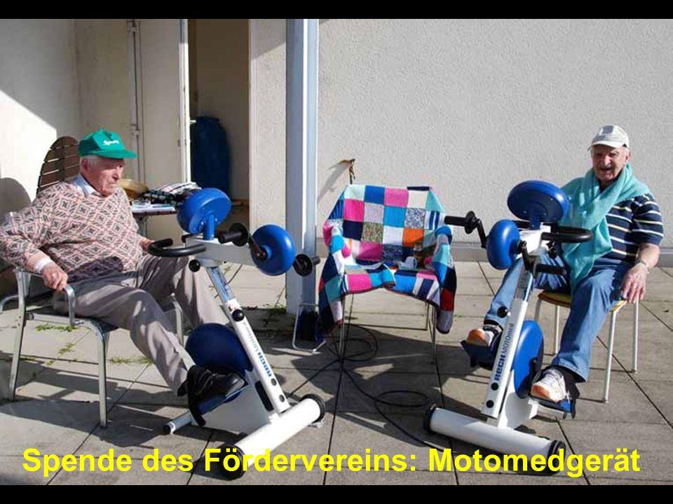 Spende des Fördervereins: Motomedgerät