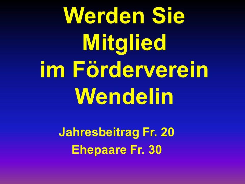 Werden Sie Mitglied im Förderverein Wendelin