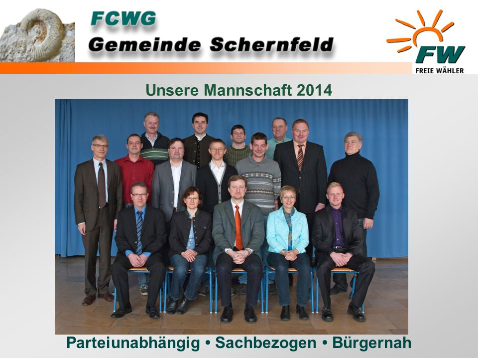 Unsere Mannschaft 2014