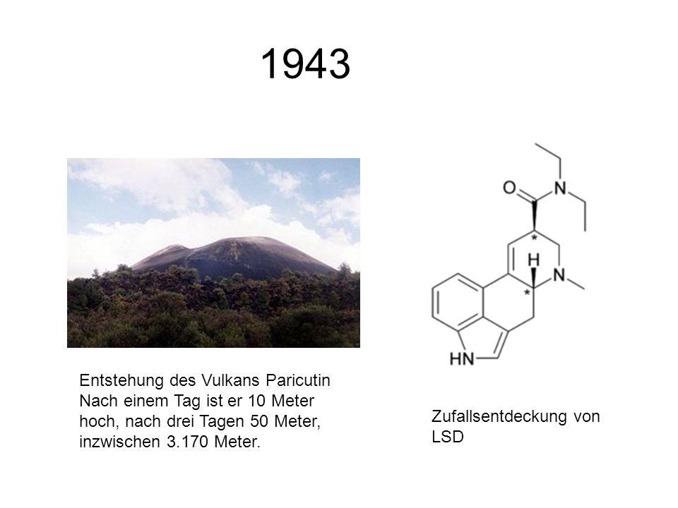 1943 Entstehung des Vulkans Paricutin