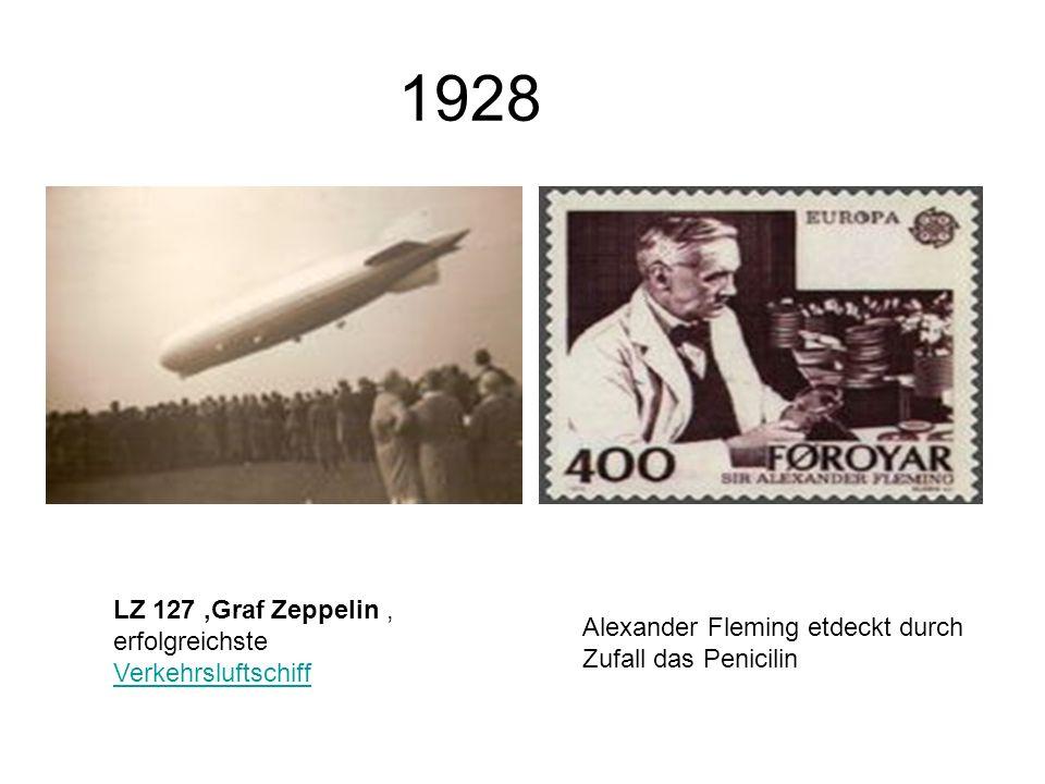 1928 LZ 127 'Graf Zeppelin , erfolgreichste Verkehrsluftschiff