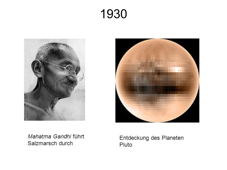 1930 Mahatma Gandhi führt Salzmarsch durch