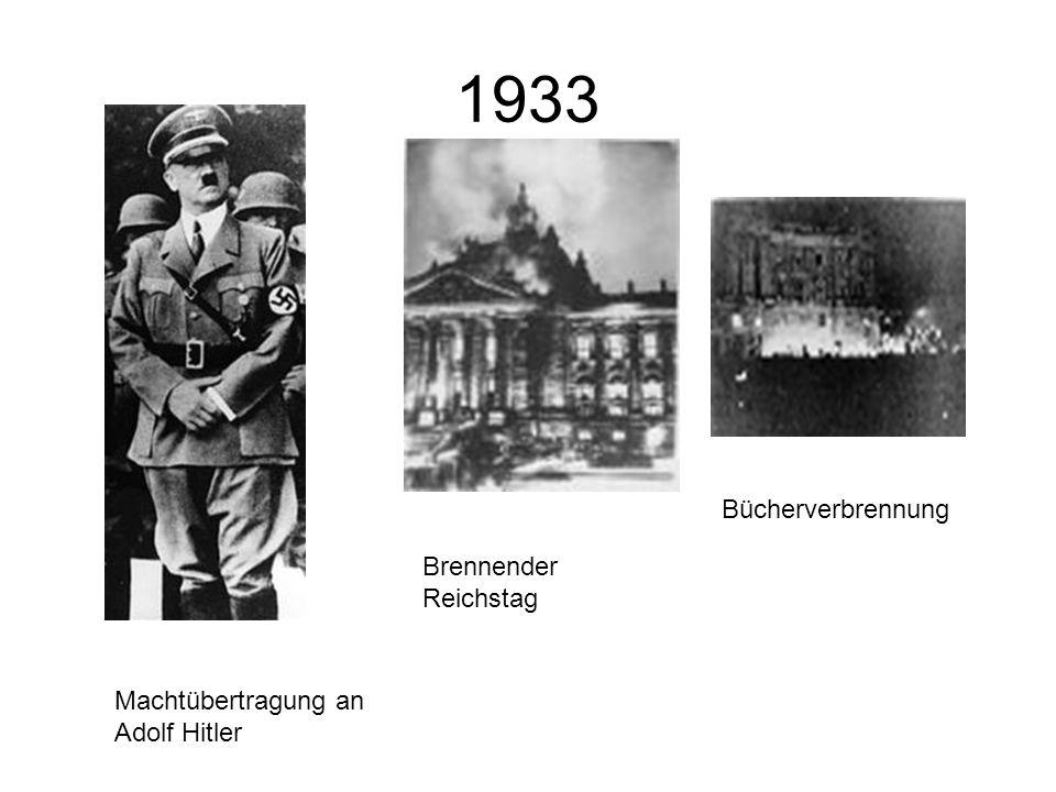 1933 Bücherverbrennung Brennender Reichstag
