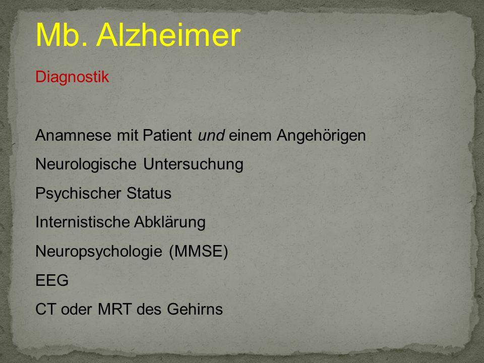 Mb. Alzheimer Diagnostik Anamnese mit Patient und einem Angehörigen