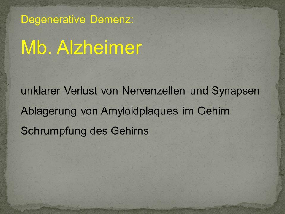 Mb. Alzheimer Degenerative Demenz: