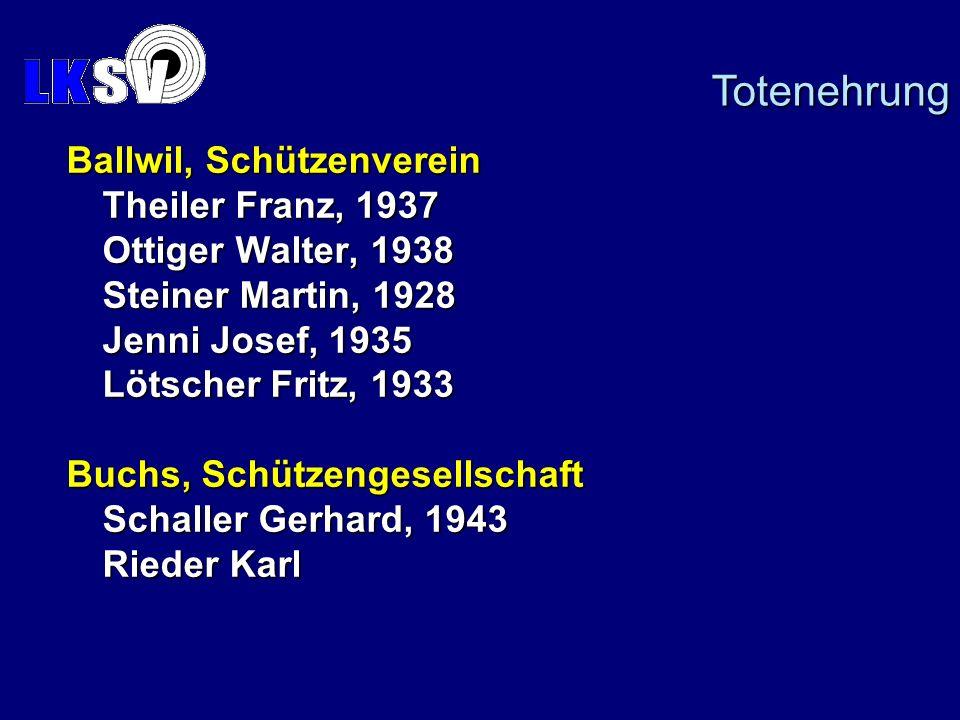 Totenehrung Ballwil, Schützenverein Theiler Franz, 1937
