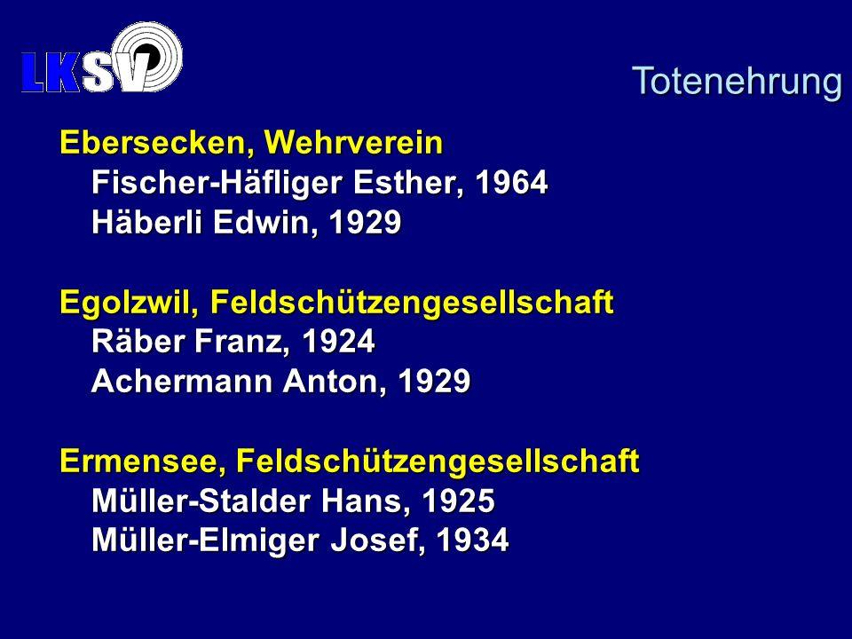 Totenehrung Ebersecken, Wehrverein Fischer-Häfliger Esther, 1964