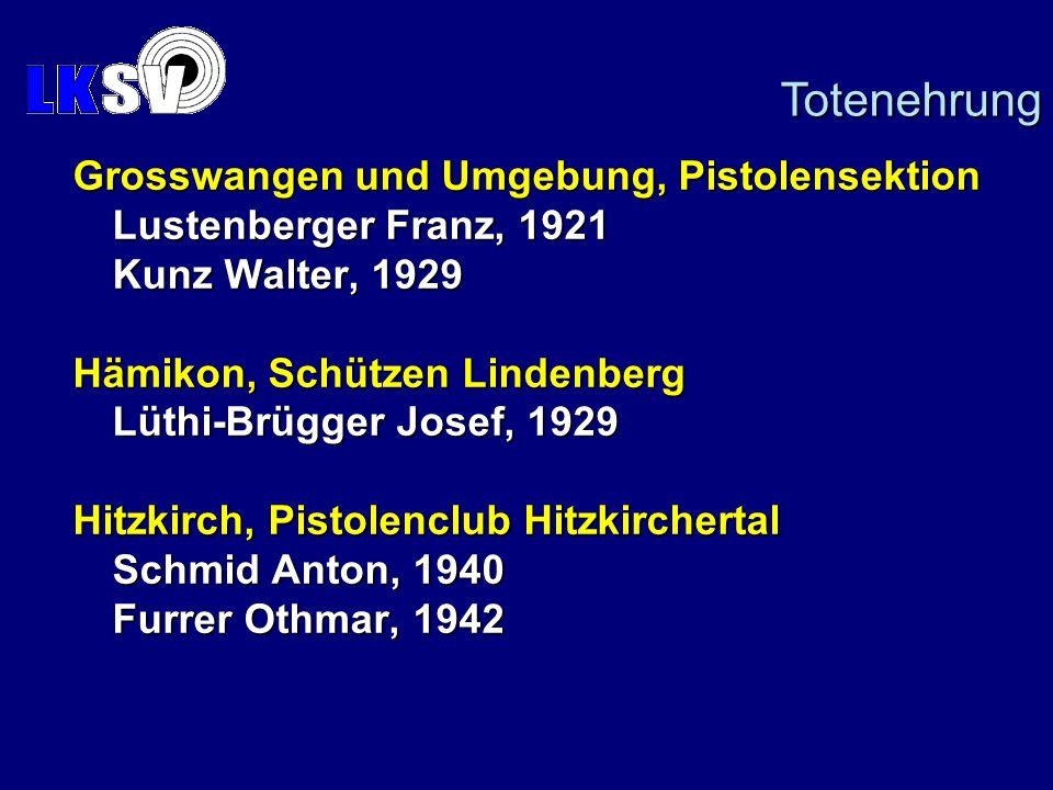 Totenehrung Grosswangen und Umgebung, Pistolensektion
