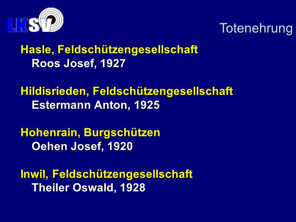 Totenehrung Hasle, Feldschützengesellschaft Roos Josef, 1927