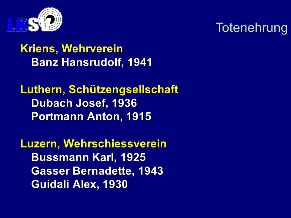 Totenehrung Kriens, Wehrverein Banz Hansrudolf, 1941