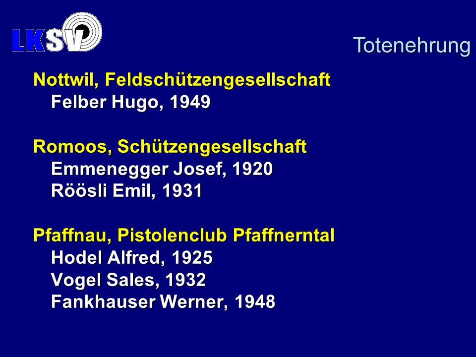 Totenehrung Nottwil, Feldschützengesellschaft Felber Hugo, 1949