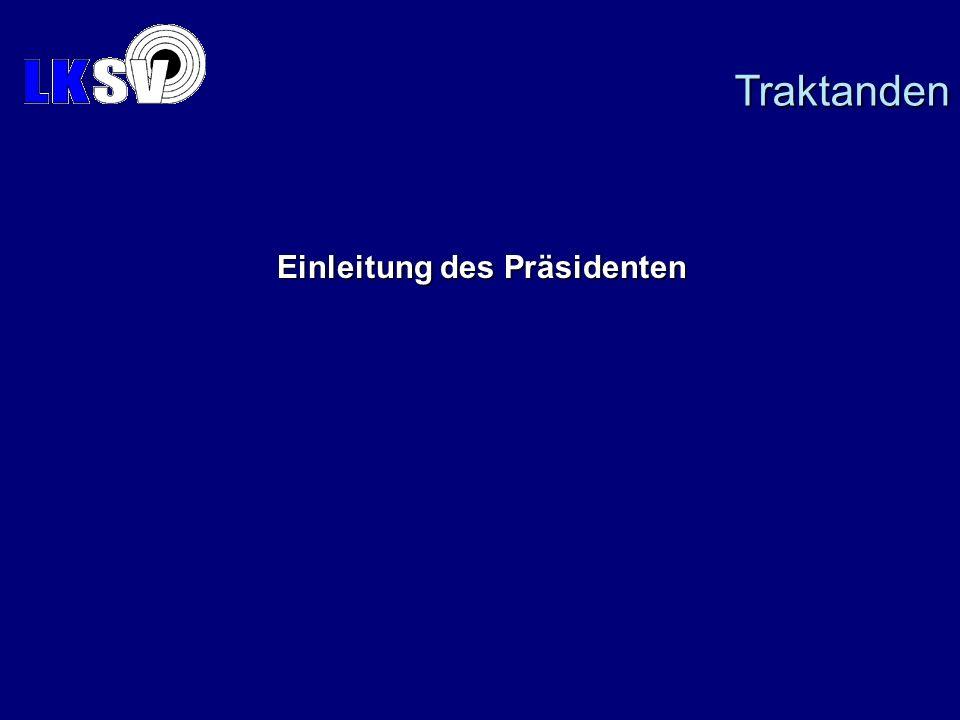Einleitung des Präsidenten