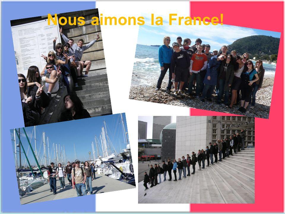 ´Nous aimons la France!