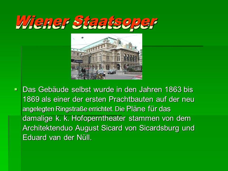 Wiener Staatsoper Wiener Staatsoper