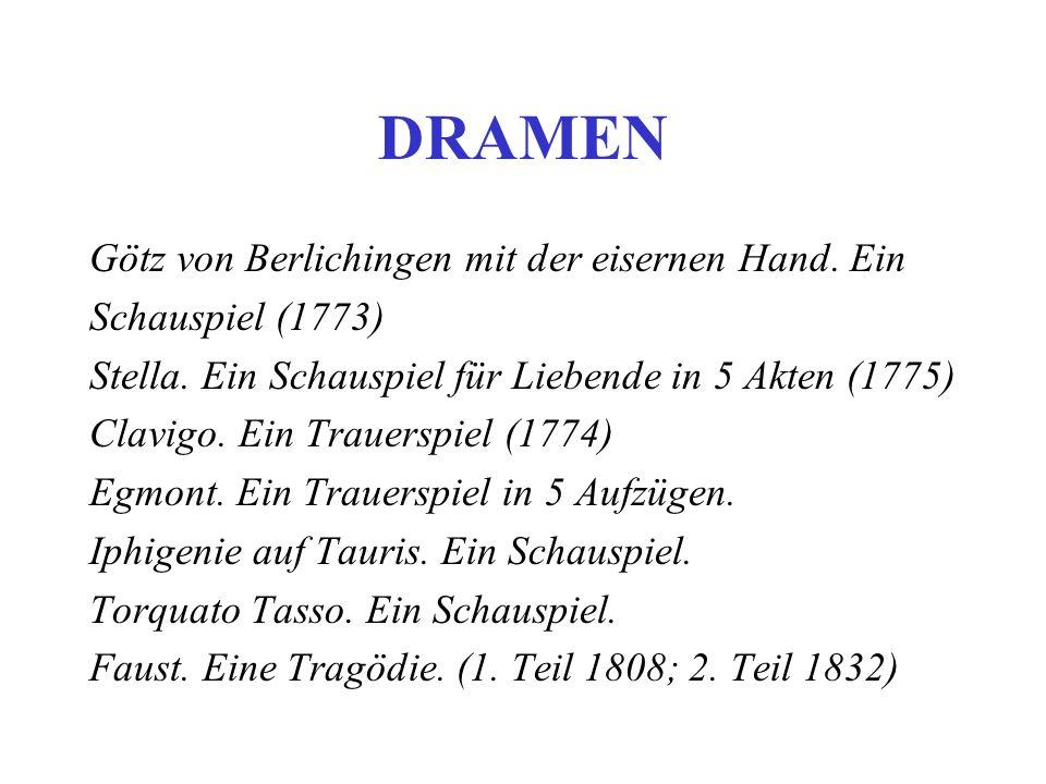DRAMEN Götz von Berlichingen mit der eisernen Hand. Ein