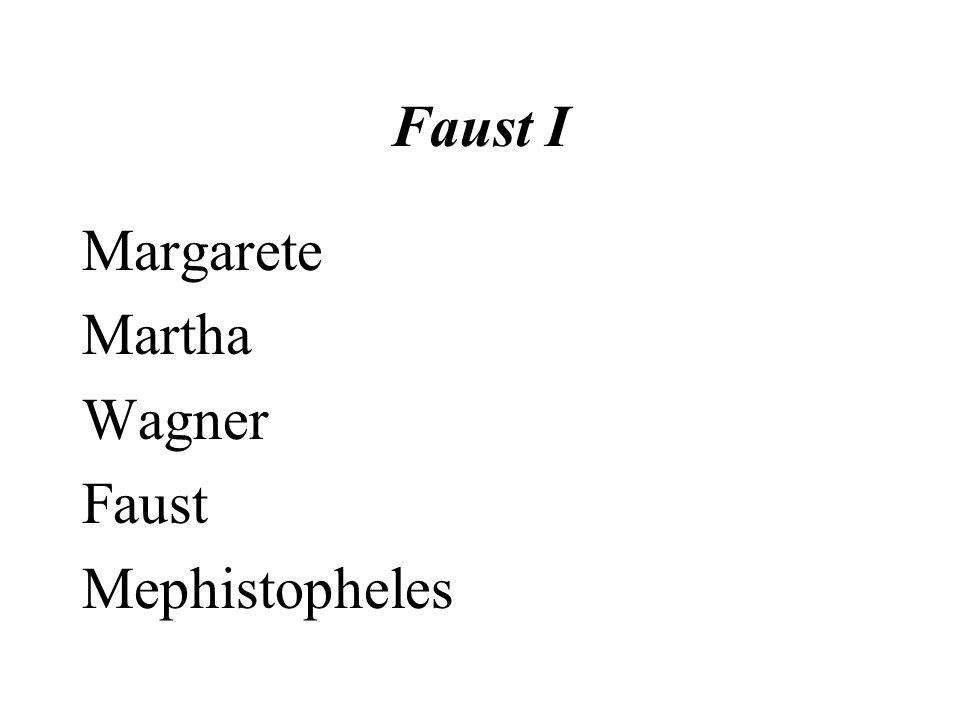 Faust I Margarete Martha Wagner Faust Mephistopheles