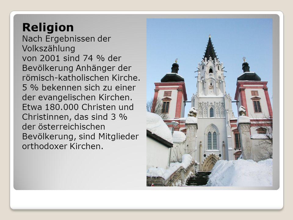 Religion Nach Ergebnissen der Volkszählung von 2001 sind 74 % der