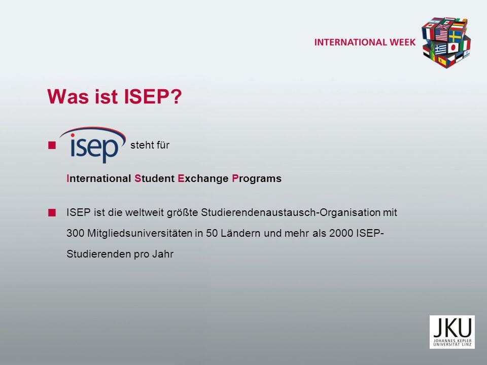 Was ist ISEP steht für International Student Exchange Programs
