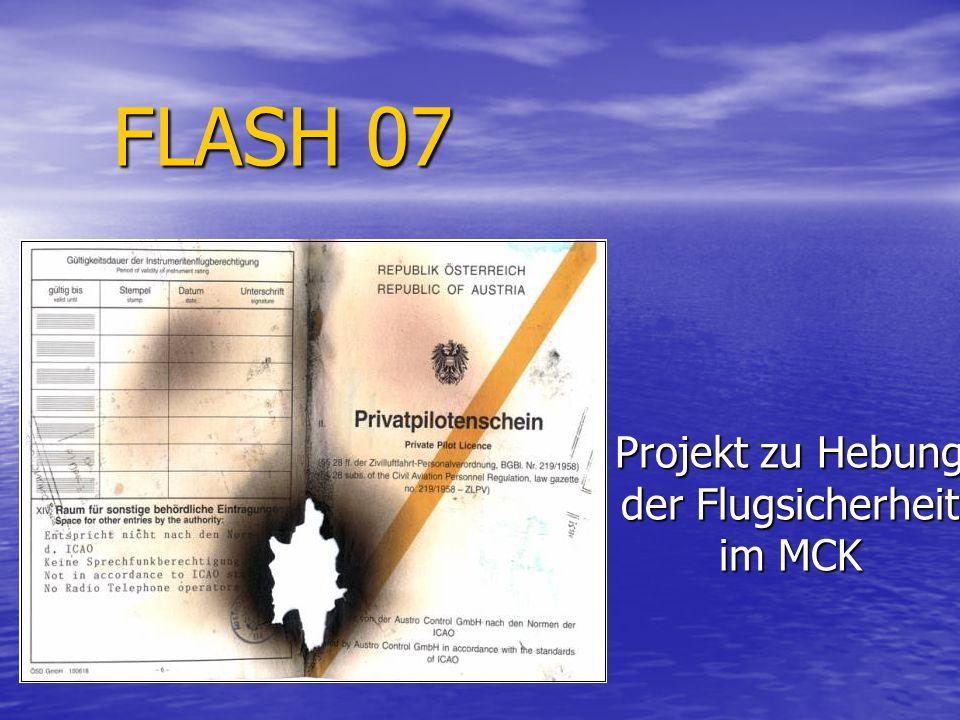 Projekt zu Hebung der Flugsicherheit im MCK